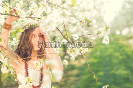 girl in the cherry blossom