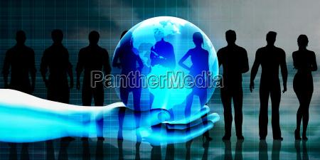 global business team