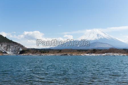 lake, shoji, and, mountain, fuji - 16323303