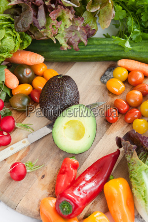 fresh, vegetables, around, rustic, cutting, board - 16324145