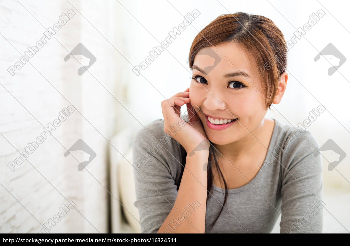 young, woman, at, home - 16324511