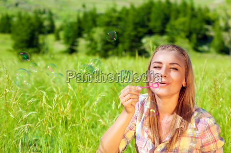 happy woman outdoors