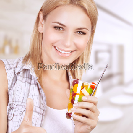 healthy, eating, woman - 16325899