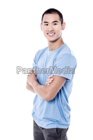 young man posing to the camera