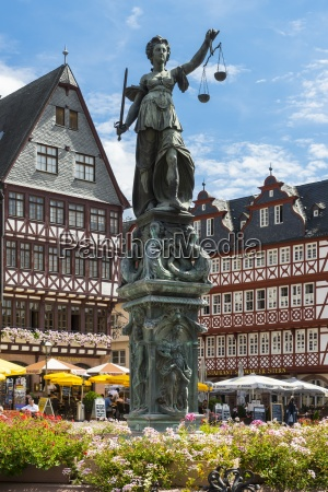 germany hesse frankfurt roemerberg fountain of
