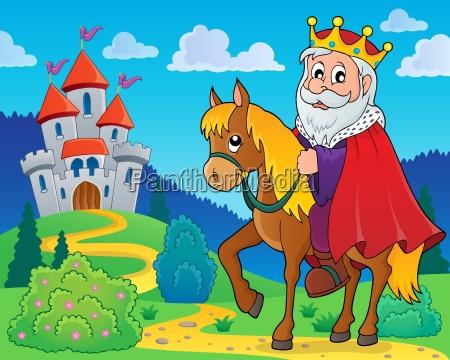 king on horse theme image 2