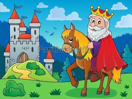 king on horse theme image 3