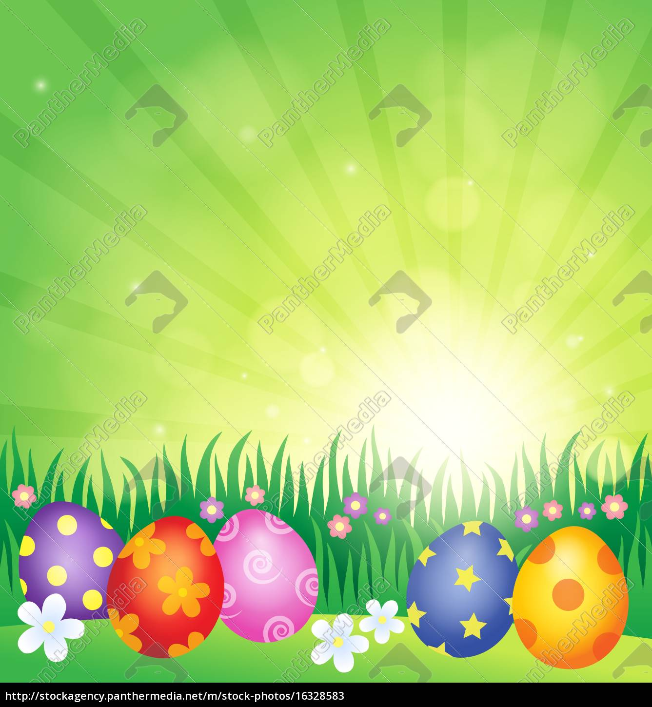 decorated, easter, eggs, theme, image, 4 - 16328583