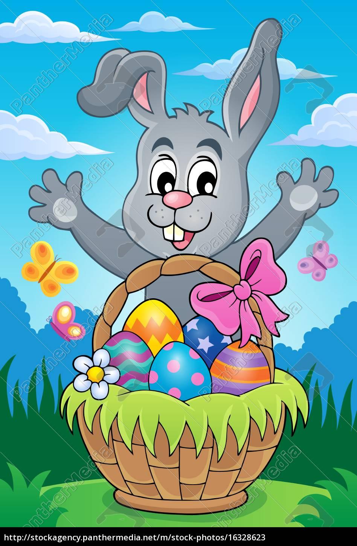 easter, basket, theme, image, 4 - 16328623