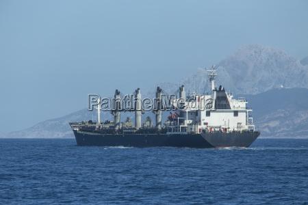 morocco tangier strait of gibraltar cargo