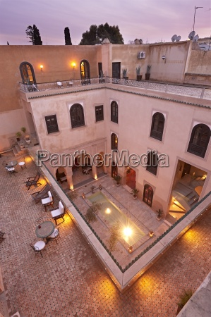 morocco fes hotel riad fes lightened