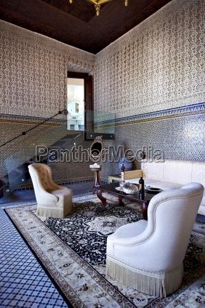 morocco fes saloon at hotel riad