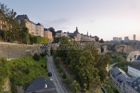 luxembourg luxembourg city view from corniche