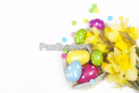 easter background with colorful easter eggs