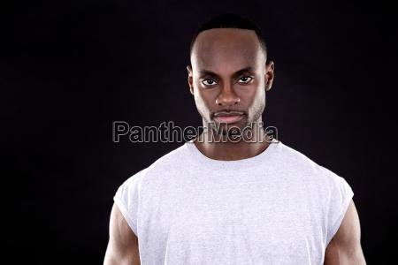 fitness, man, on, dark, background - 16342289