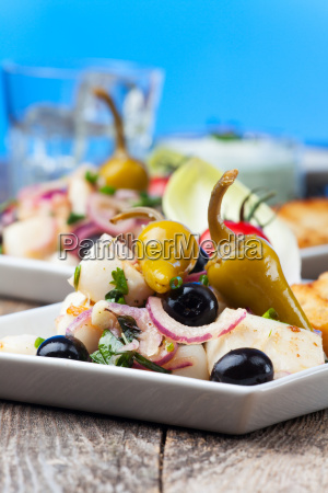 greek, squid, salad - 16342353