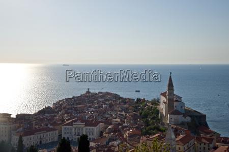 cityscape piran slovenia