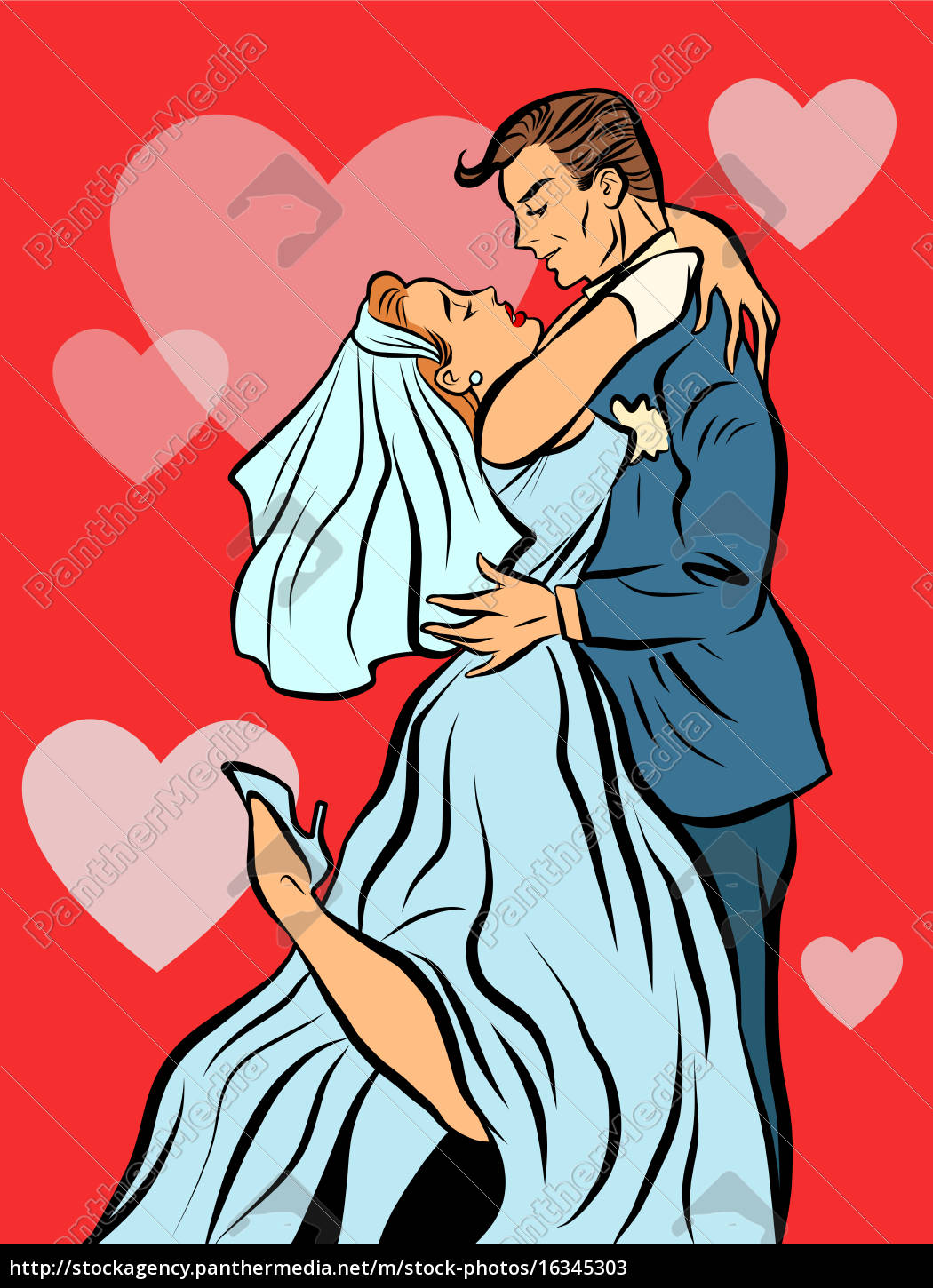 the, bride, and, groom, married, wedding - 16345303