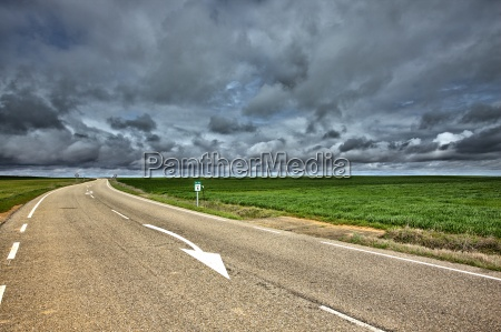 spain province of zamora country road