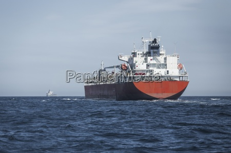 spain andalusia tarifa cargo ship on