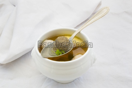 soup bowl of swabian wedding soup