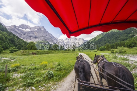 austria tyrol karwendel mountains grubenkarspitze eng
