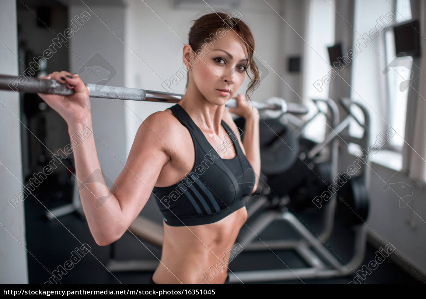 sport, brunette, in, the, gym, in - 16351045