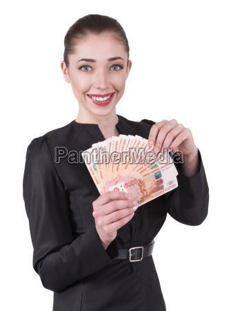 woman offers money