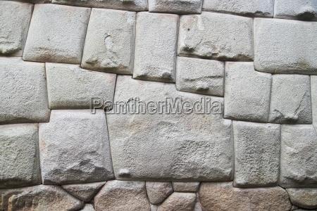 south america peru cusco stonewall of