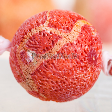 bead from orange sponge coral gem