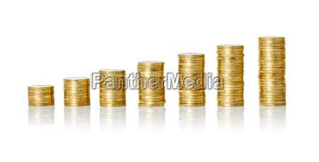 money stack against white background