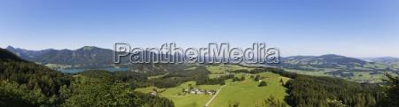 austria salzburg state salzkammergut view to