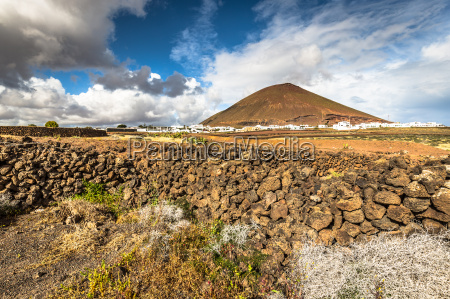 volcanic landscape of the island of
