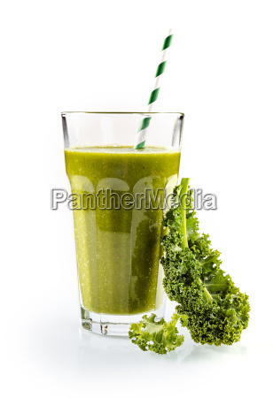healthy smoothie with fresh kale
