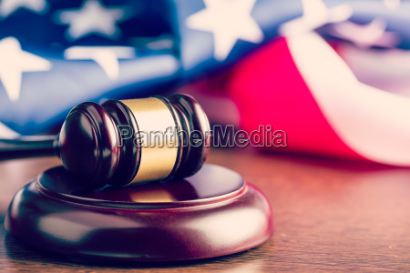 judge gavel and background with usa