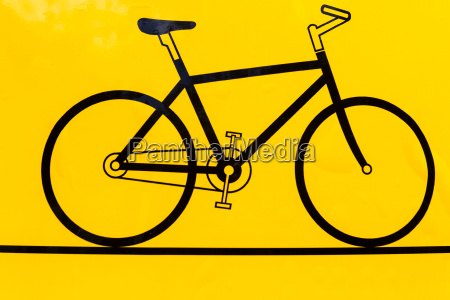 bicycle outline icon modern minimal flat