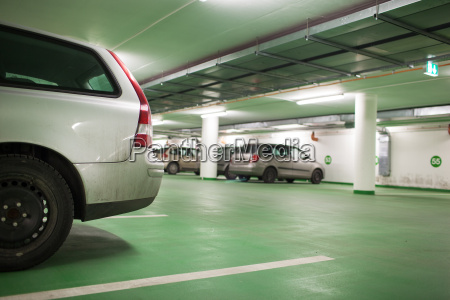 cars parked in an underground parkinggarage