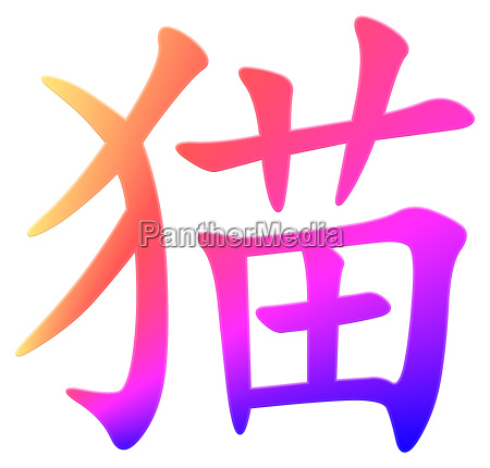 chinese character for cat
