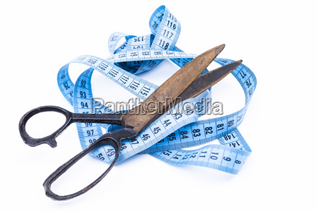 scissors and tape measure