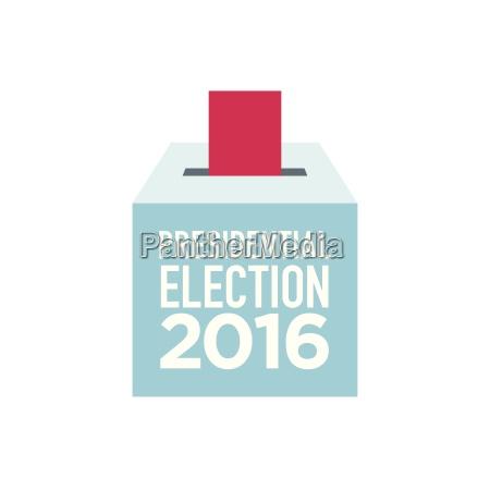 united states ballot box vector illustration