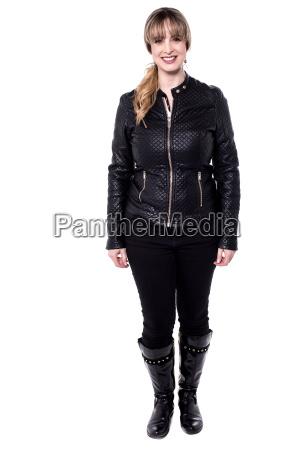 woman in trendy apparel