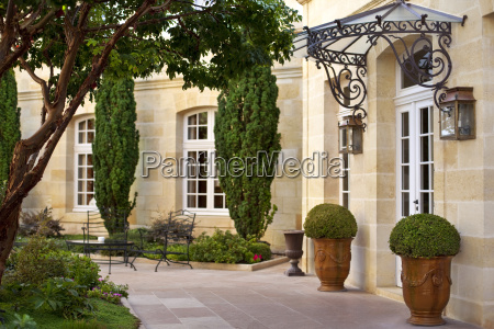 terrace of a french mansion