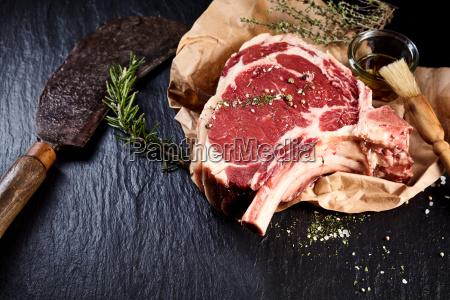 beef cote de boeuf ribs slice