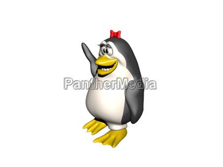 comic penguin isolated