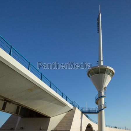 drawbridge and control tower in la