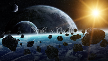meteorite impact on planet earth in