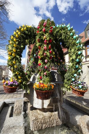 easter fountain in the district of