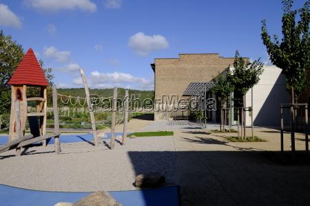 monastery schulpforte with monastery garden in