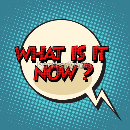 what is it now retro comic