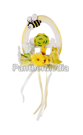 easter decoration with a bee and